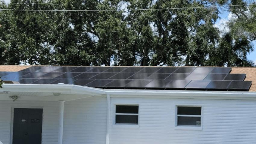 solar panels on sorensen funeral home's roof