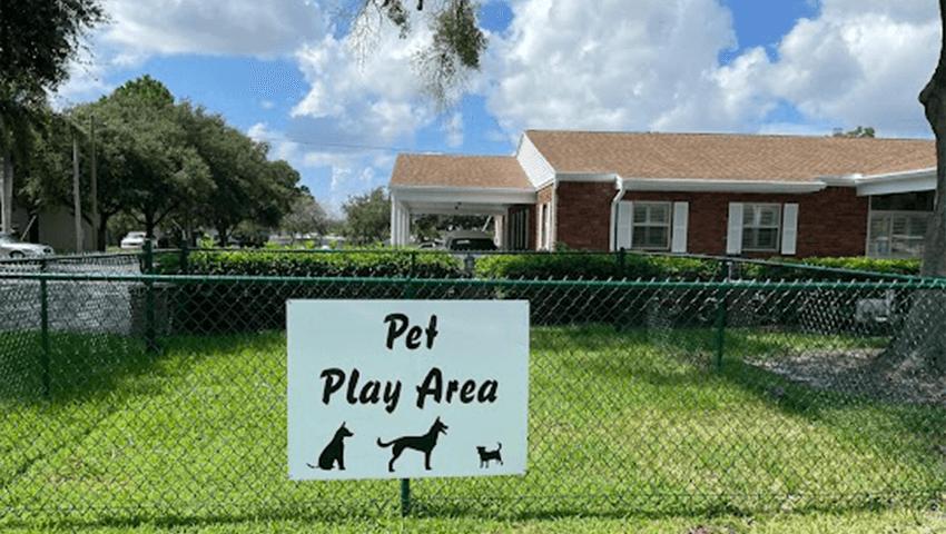 sorensen funeral home's pet play area