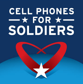 cell phone for soldiers banner