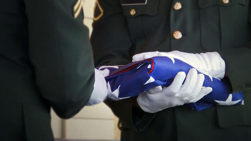 veteran burial flag