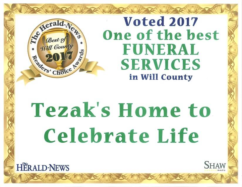 Tezak's Home to Celebrate Life | Joliet IL funeral home and