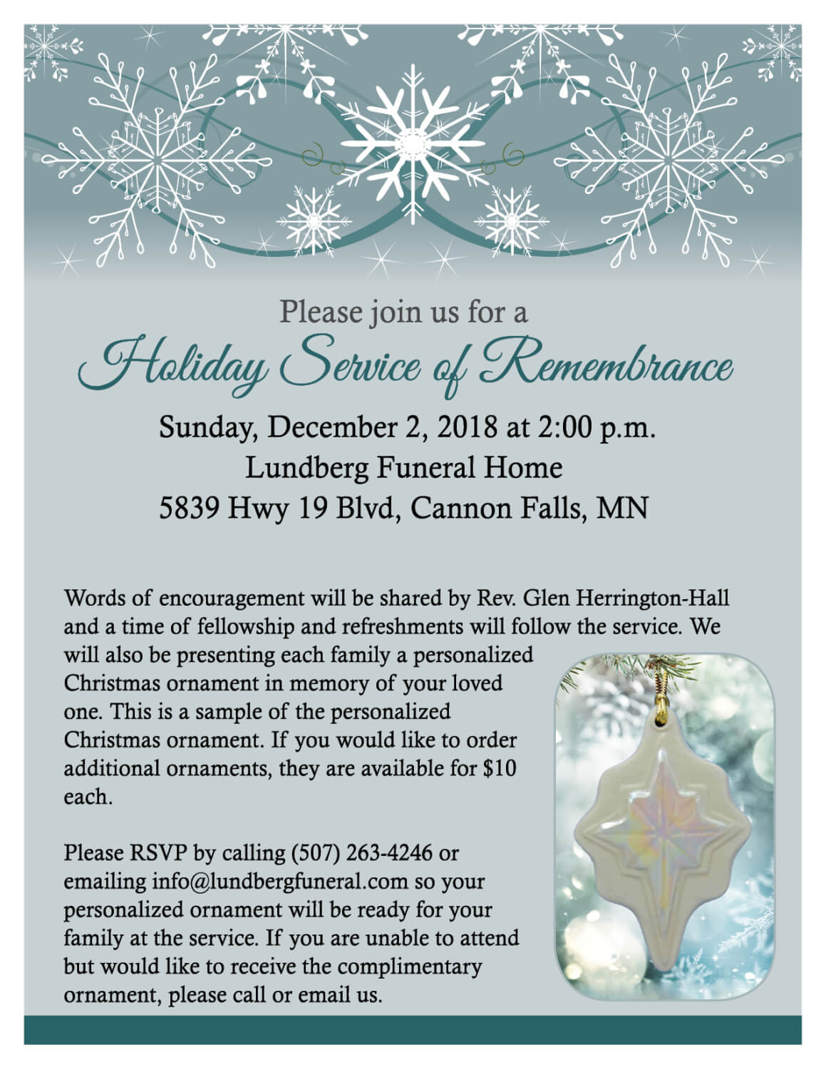 News And Events Lundberg Funeral Home Cannon Falls Mn