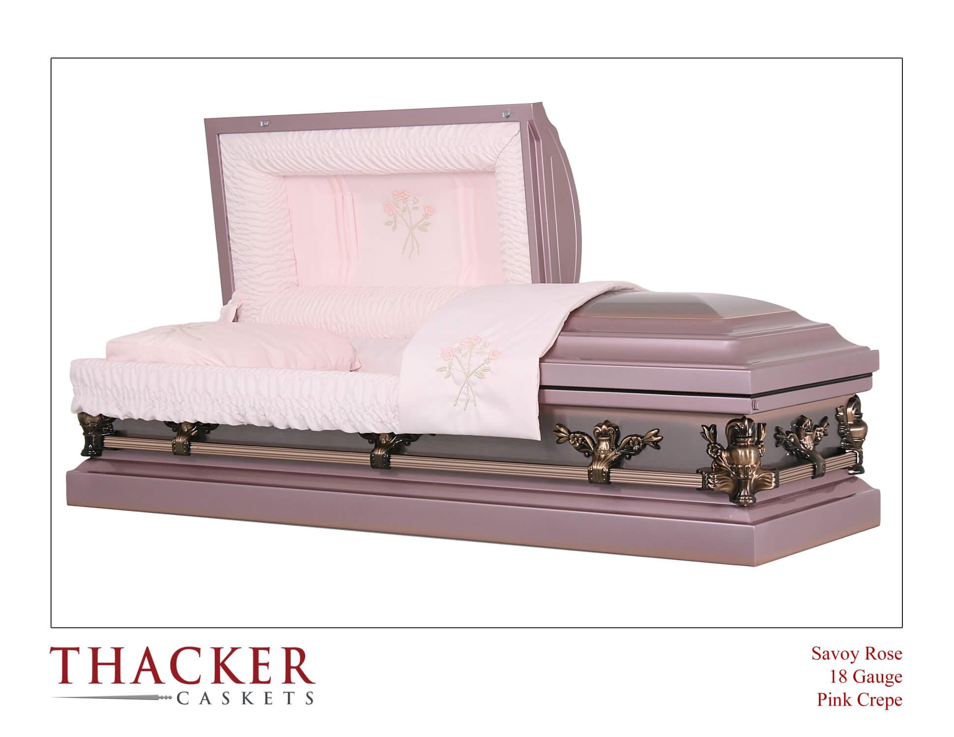 18 Gauge Lavender, Pink, Antique Looking Casket For A Lady - $2,595.00