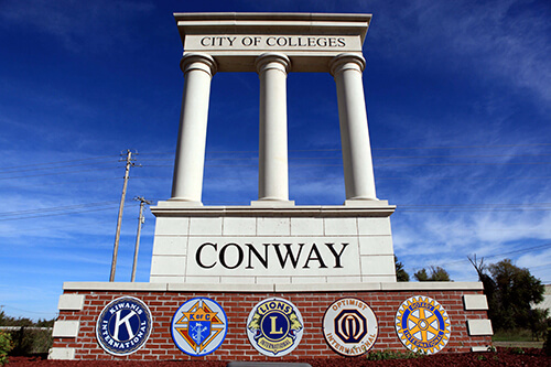 City of Conway Welcome Sign