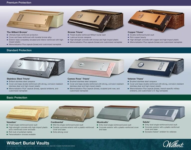 Image showing our affordable vaults at Vilonia Funeral Home - Wilbert Vaults