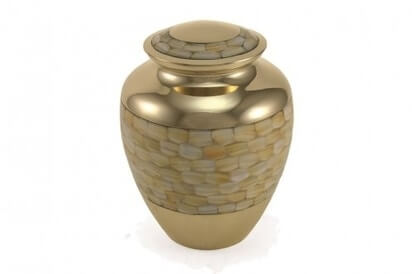 Mother of Pearl style Urn
