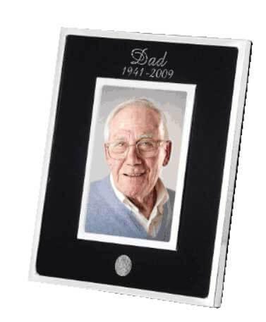 Commemorative keepsake photo frame