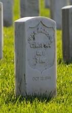 small headstone with inscription symbol