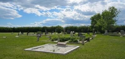 alternative view of granum cemetery