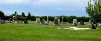 Graves in Granum cemetery
