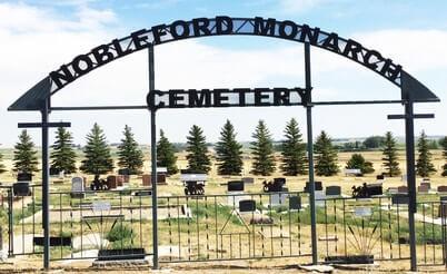 Nobleford Monarch Cemetery entrance