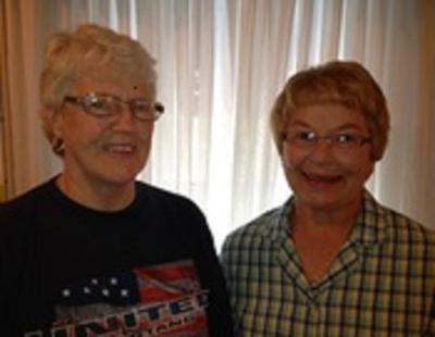 Nancy Adair and Vi Hass