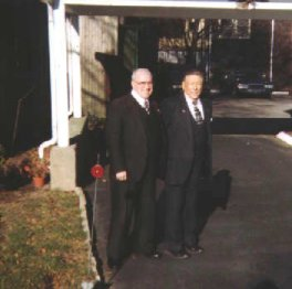 John 'Lefty' Emde and Albert Coletta working on a funeral.
