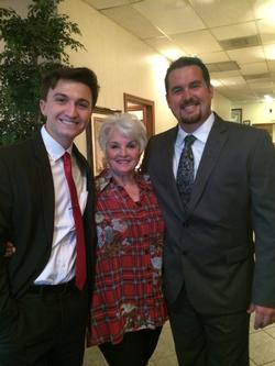 Grant Partlow, Linda Partlow and Hunter Reynolds