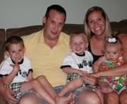 Roger, Erin, Brady, Benjamin and Lily Thomas