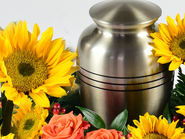 Funeral Home and Cremations Gilmer TX 795 Direct Cremation in Gilmer Texas 000004 Urn Sunflower