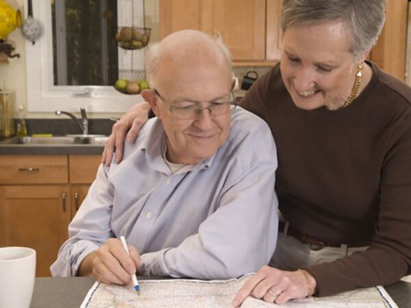 Couple planning pre-arranged funerals in Park Ridge, IL