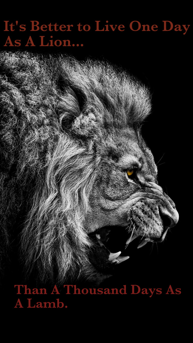 better to live one day as a lion