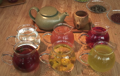 tea ritual at samovar tea lounge