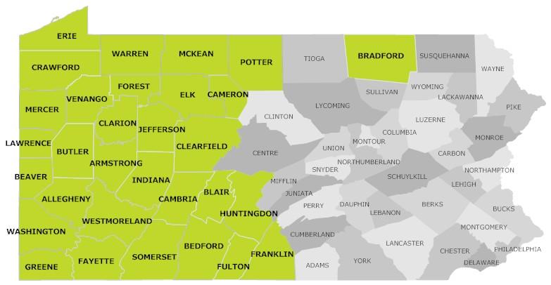 DSA Map PA