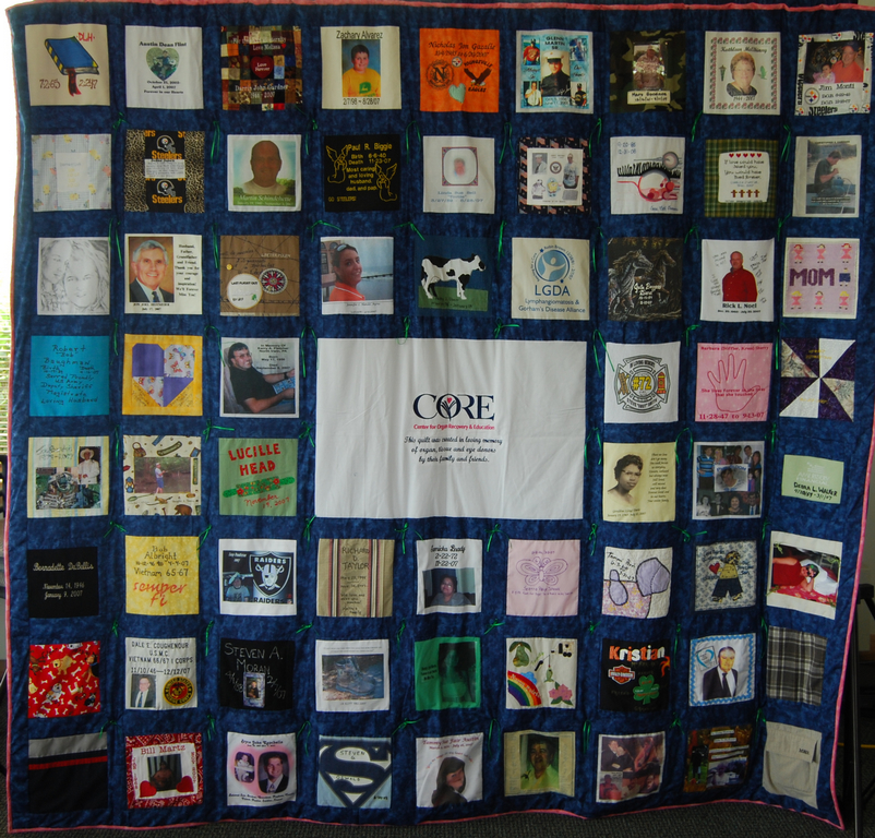 CORE Remembrance Quilt | CORE | Center for Organ Recovery & Education : family quilts - Adamdwight.com