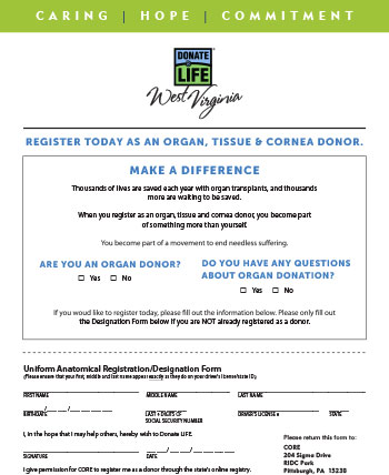 donation commitment form