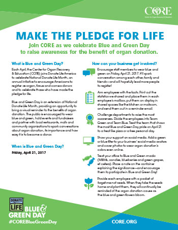 April Is National Donate Life Month | Core.org