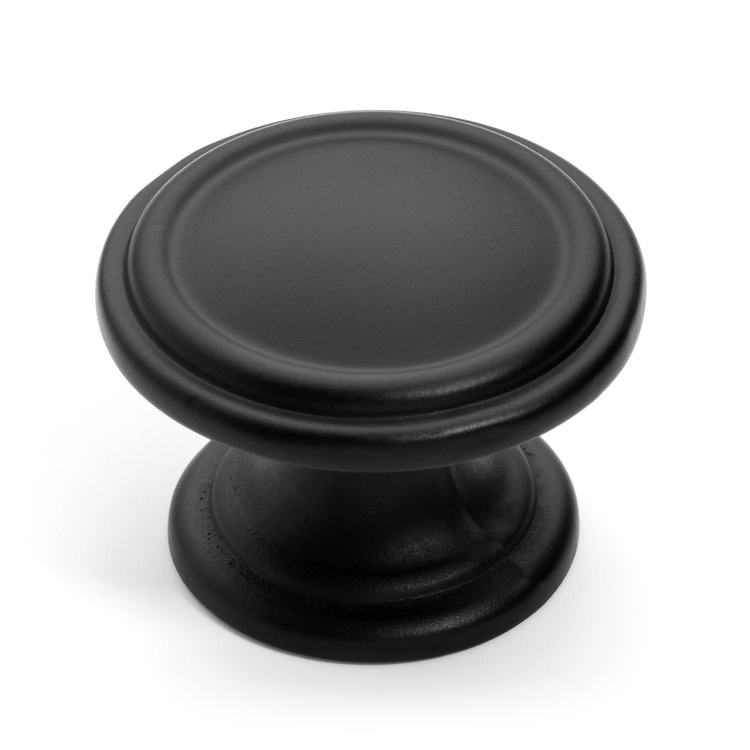 Flat Black Cabinet Hardware Knobs & Pulls