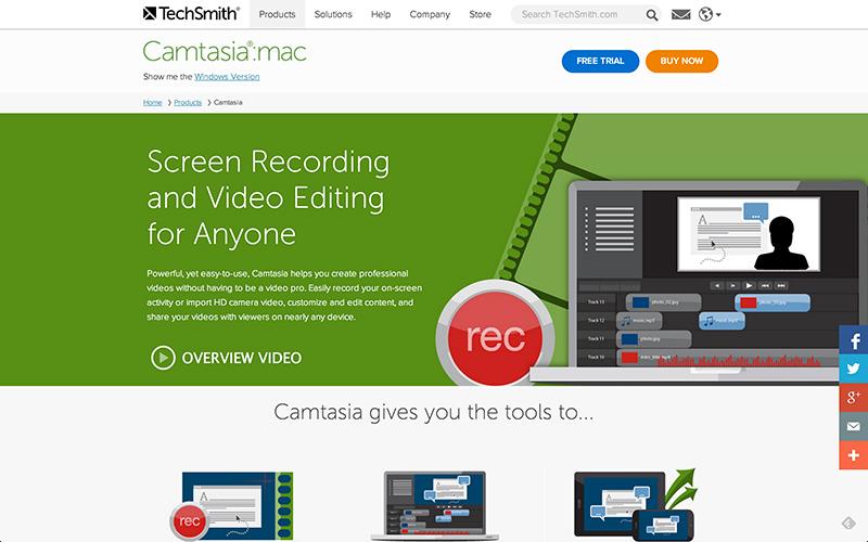 Camtasia editor de video