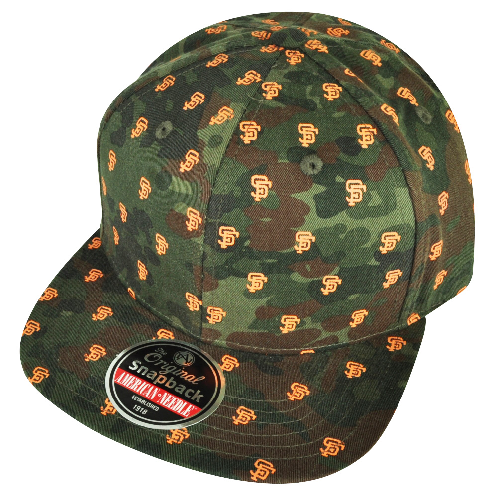 MLB American Needle San Francisco Giants Camouflage Logo Sun Buckle Hat Cap  Camo f60af4cfb13
