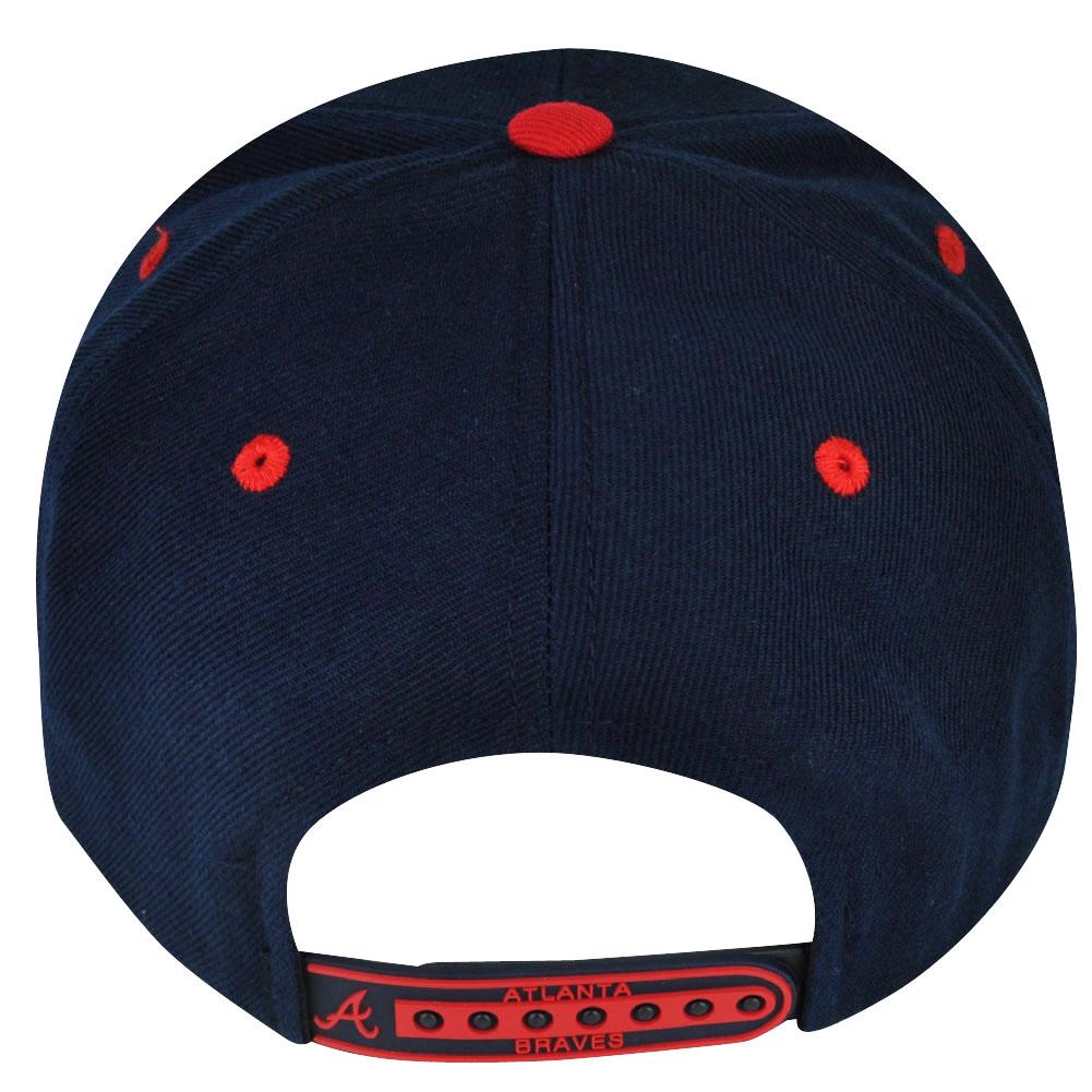 6a99ea298f2 MLB American Needle Atlanta Braves Fusion Angler Snapback Flat Bill Hat Cap