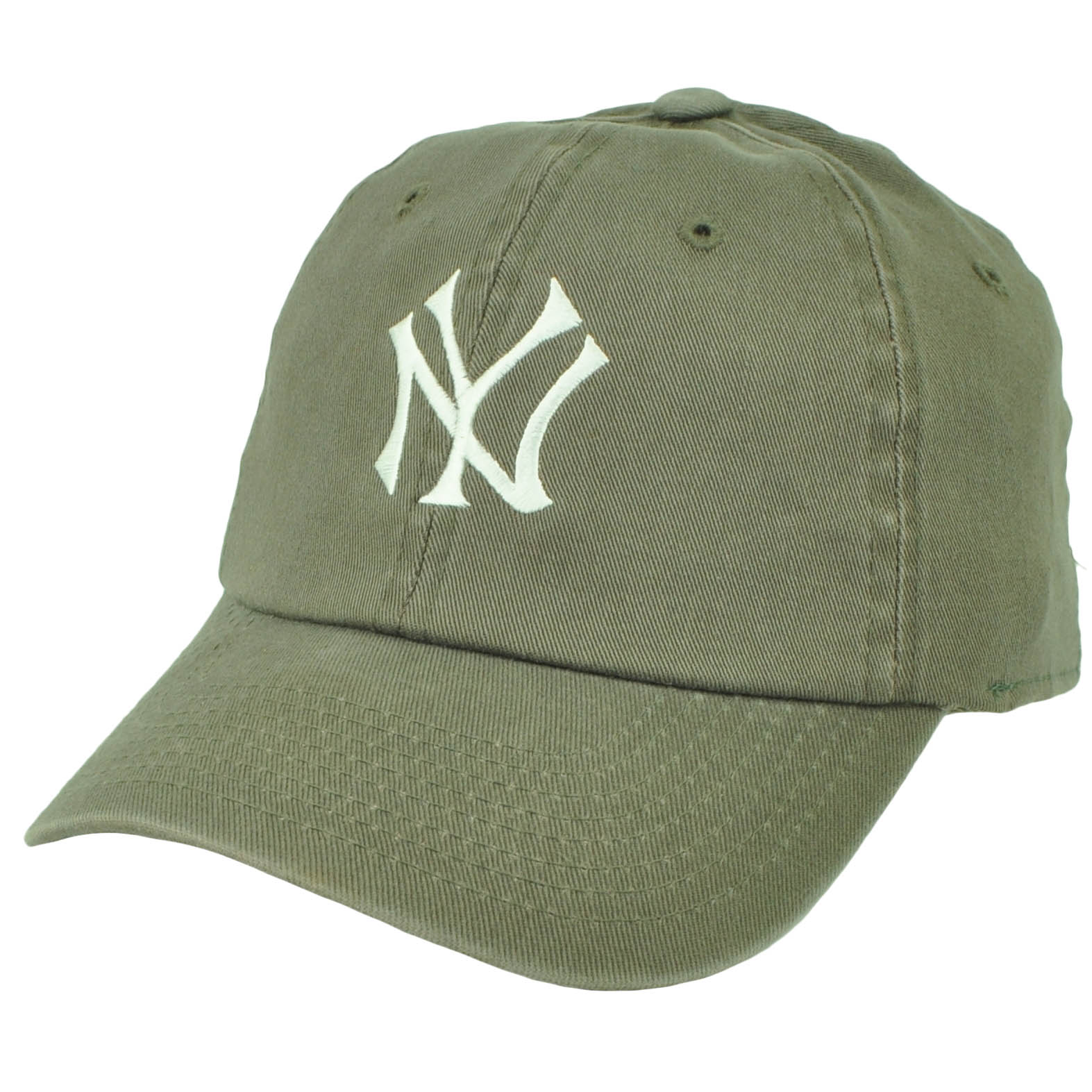 eea46a6ba1 New York Yankees American Needle Fitted Small Medium Stretch Hat Cap Faded  Olive