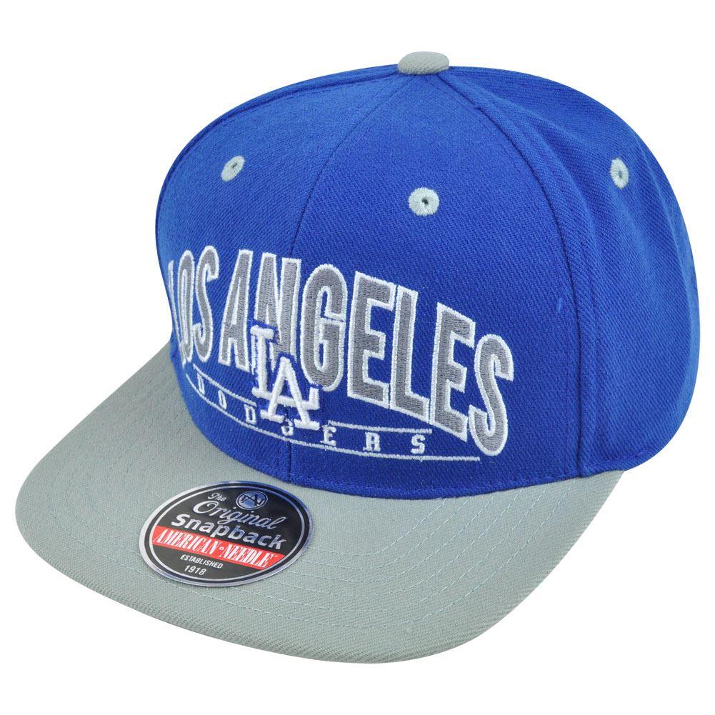 b7de77d7bc4 MLB American Needle LA Los Angeles Dodgers Archer Snapback Baseball Hat Cap