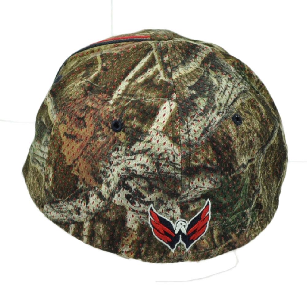 best website 0ab00 9357c NHL Zephyr Washington Capitals Flex Fit Medium Large Camouflage Camo Hat Cap