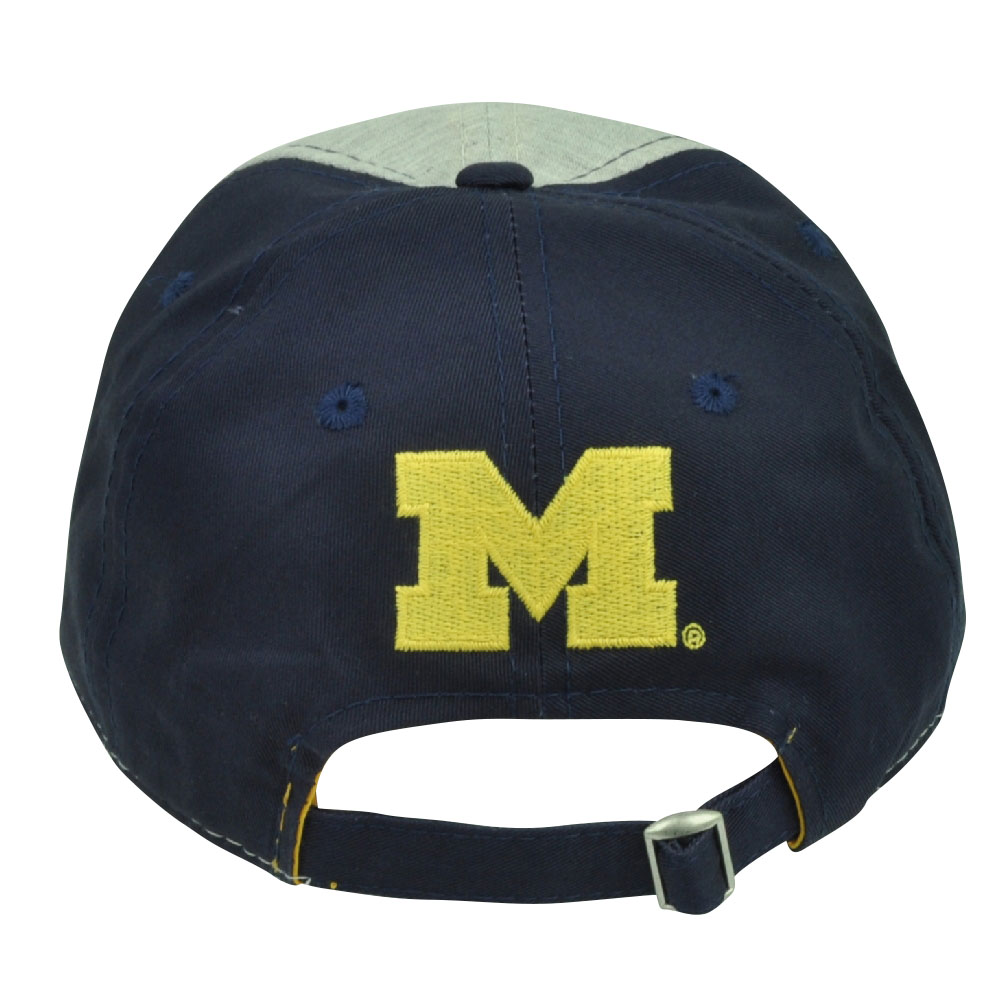 timeless design 05700 1a954 NCAA Michigan Wolverines Two Tone Sun Buckle Hat Cap Relaxed Slouch Garment  Wash