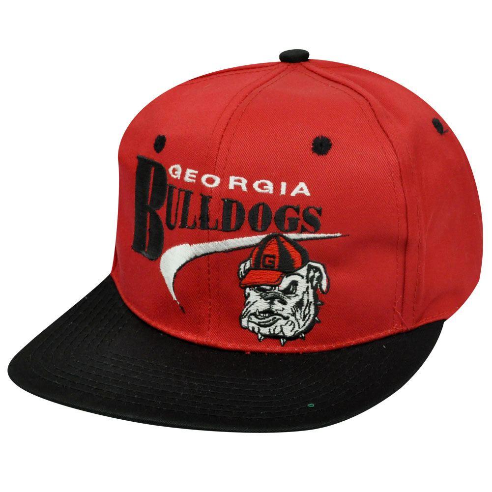 NCAA GEORGIA BULLDOGS SNAPBACK FLAT BILL OLD SCHOOL HAT 719719293329 ... 93fdcb4c1e7