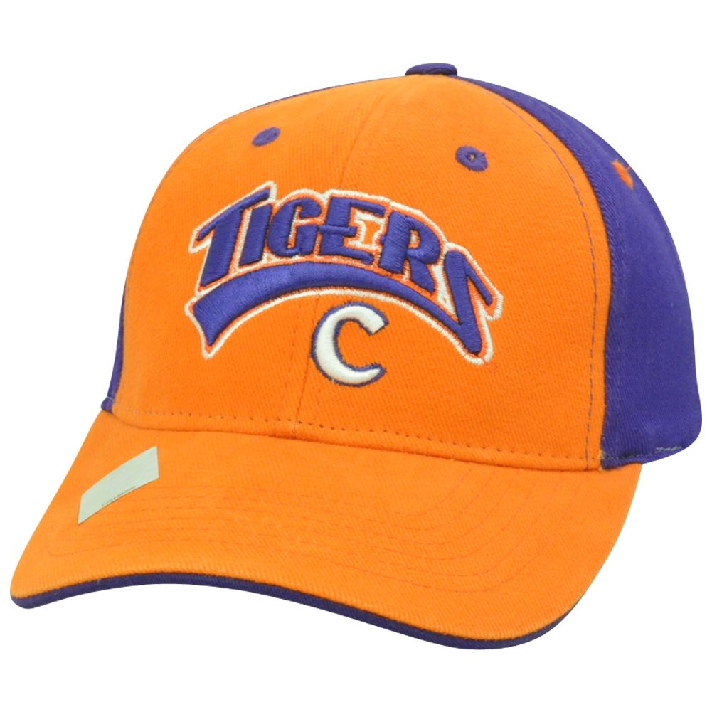 online store 4ed79 2aefa Clemson Tiger NCAA Two Tone Curved Bill Arch Orange Adjustable Hat Cap