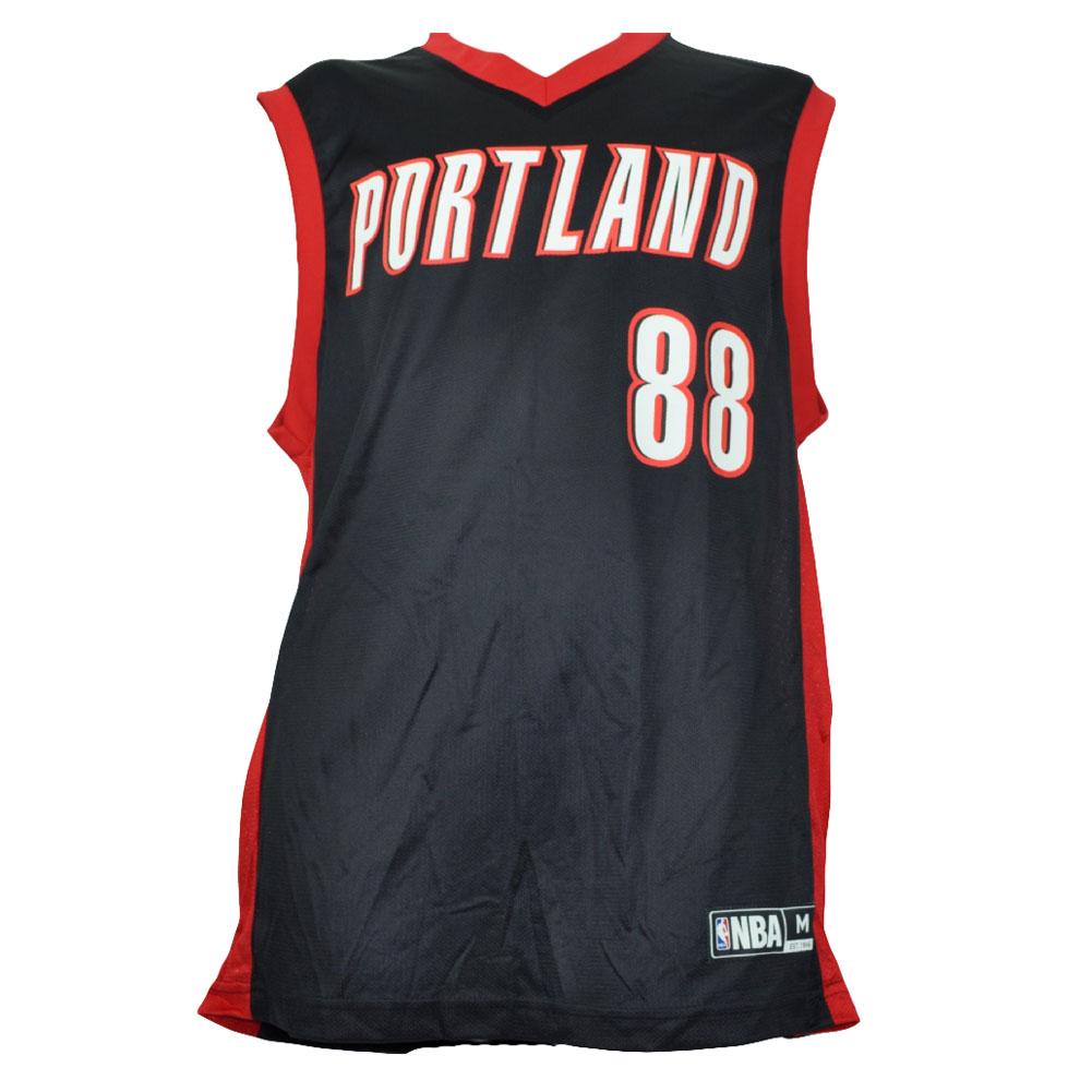 san francisco 1ceb7 a5cd8 Details about NBA Portland Trail Blazers Nicolas Batum 88 Black Jersey Mesh  7794A Mens Adult