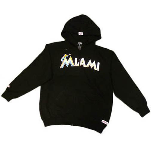 wholesale dealer f4646 e1262 Details about MLB Florida Miami Marlins New Logo Medium MD Black Blk Hoodie  Sweatshirt Sweater