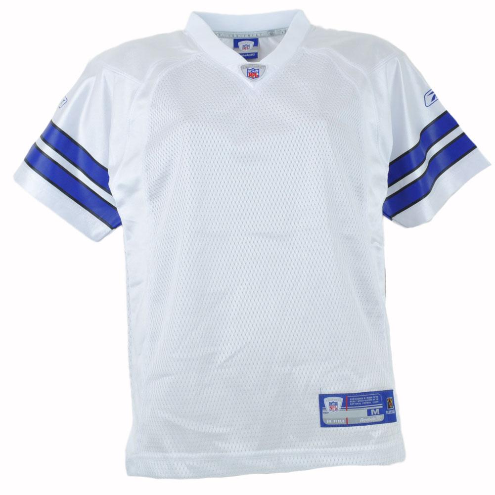 6f5dd44f60c NFL Reebok Plain White Blue Football Jersey Youth Boys Dallas Cowboys