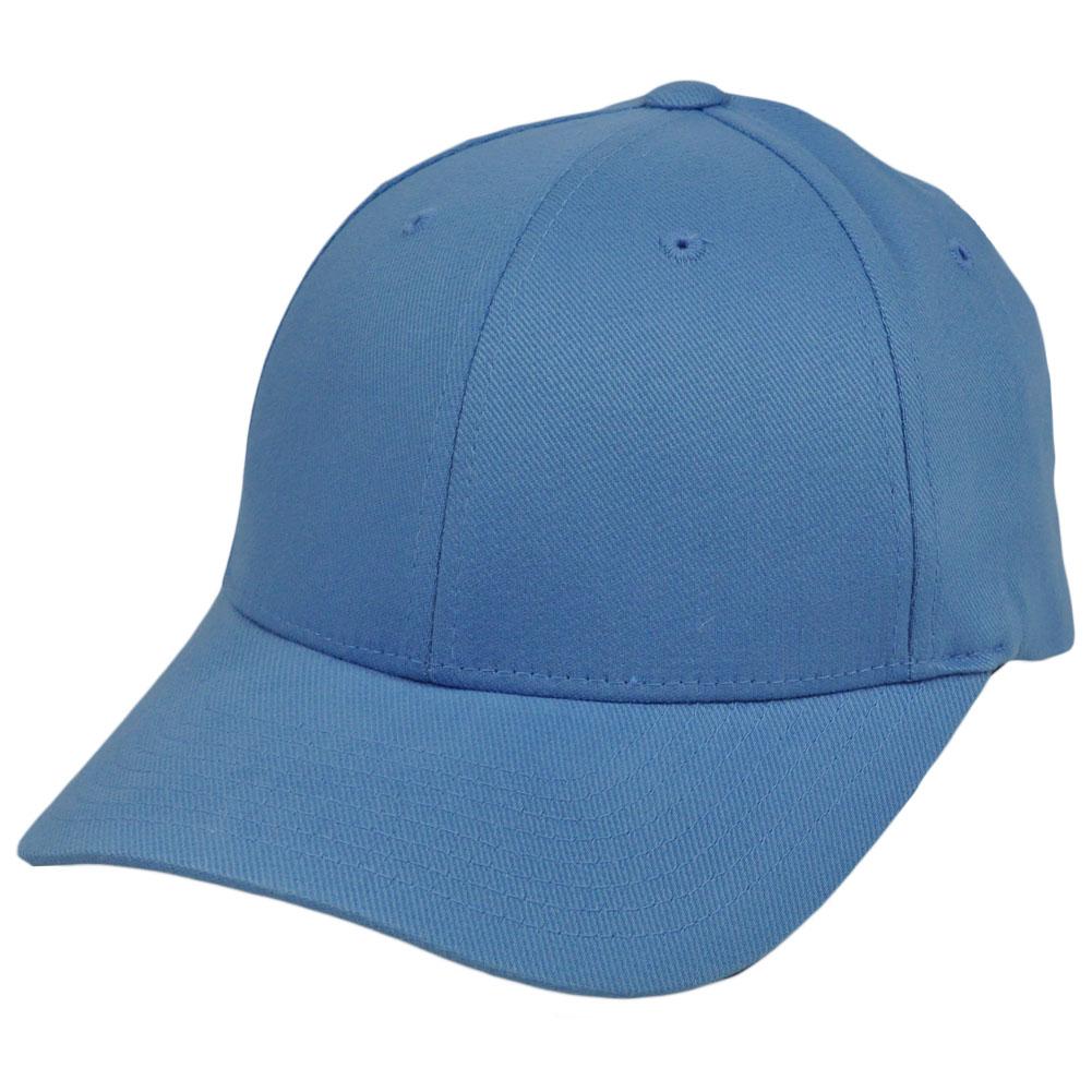 Blank Plain Solid Light Baby Blue Flex Fit Small Medium Organic Baseball  Hat Cap 0903a249593