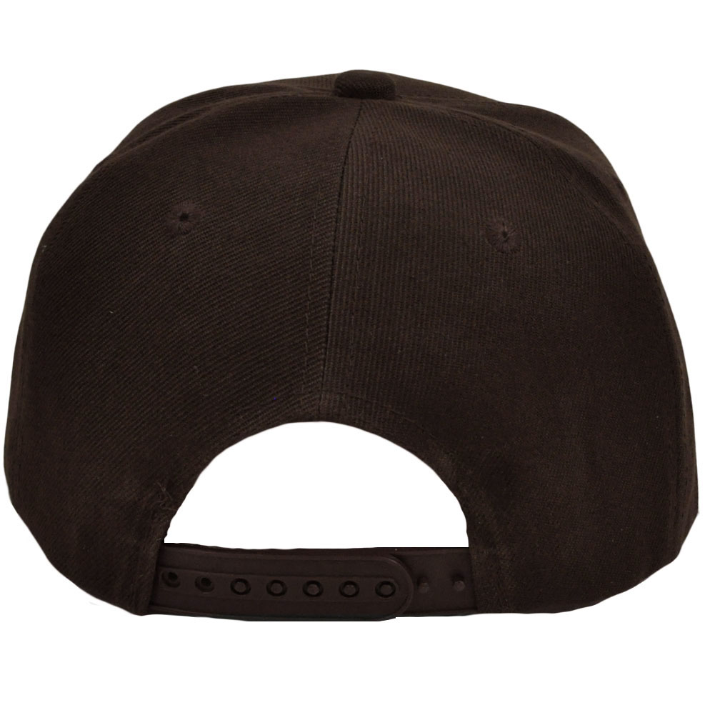 Blank Plain Solid Color Dark Brown Flat Bill Visor Snapback Constructed Hat  Cap 8d7dc58625c
