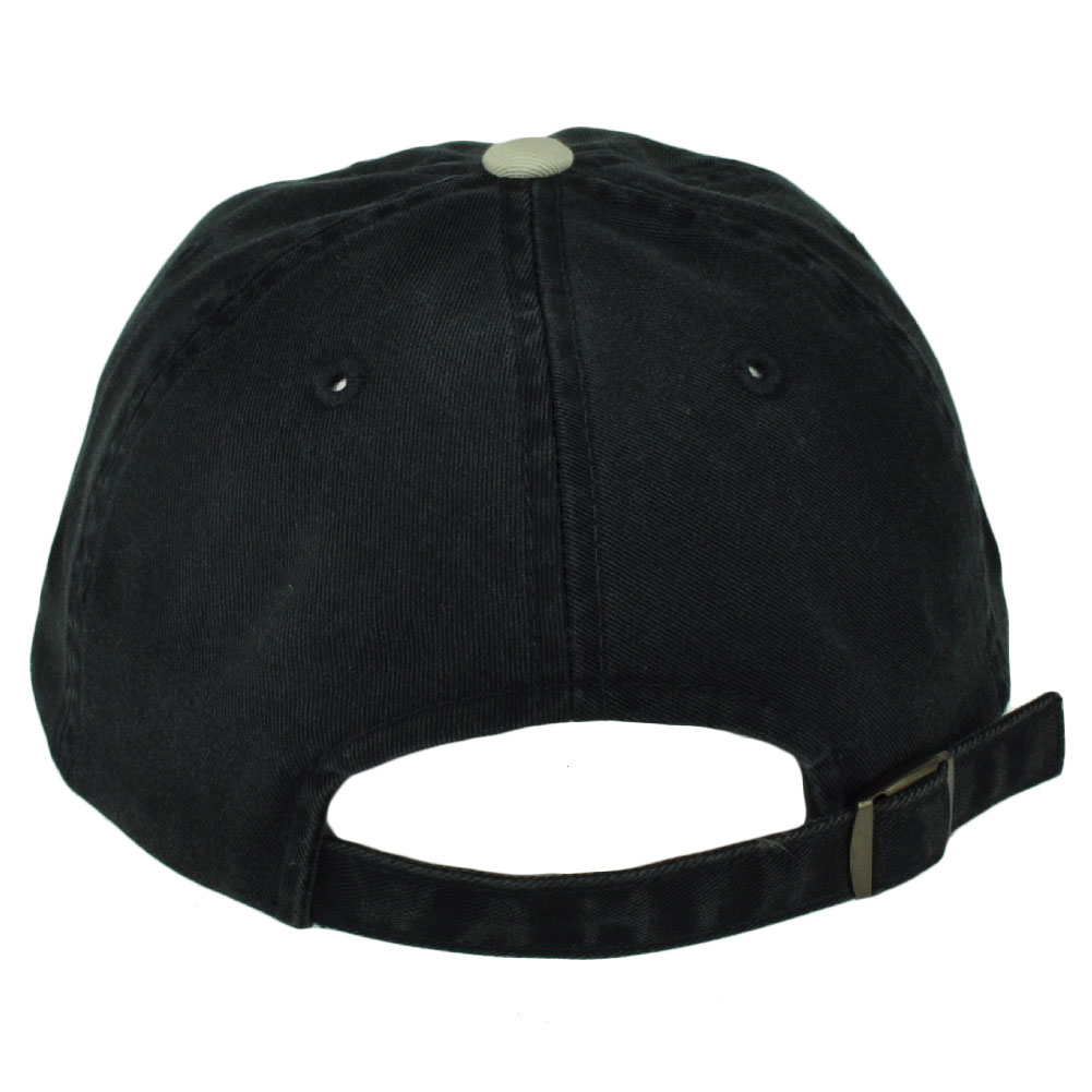 831cf816 Details about American Needle Black Beige Flat Bill Sun Buckle Relaxed  Slouch Hat Cap Washed