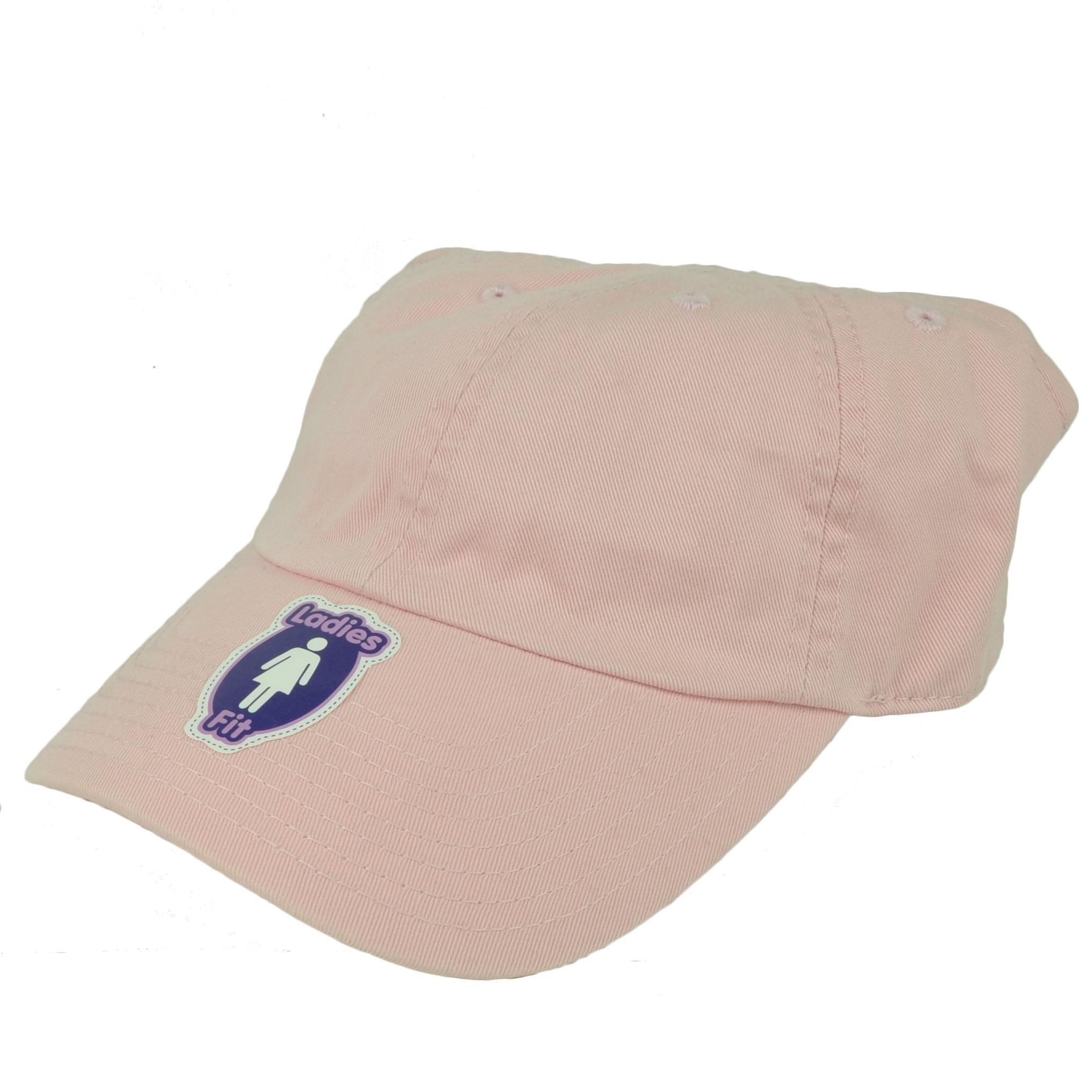 American Needle Pink Open Back Hat Cap Visor Womens Ladies Blank Plain fa36b0a2d42