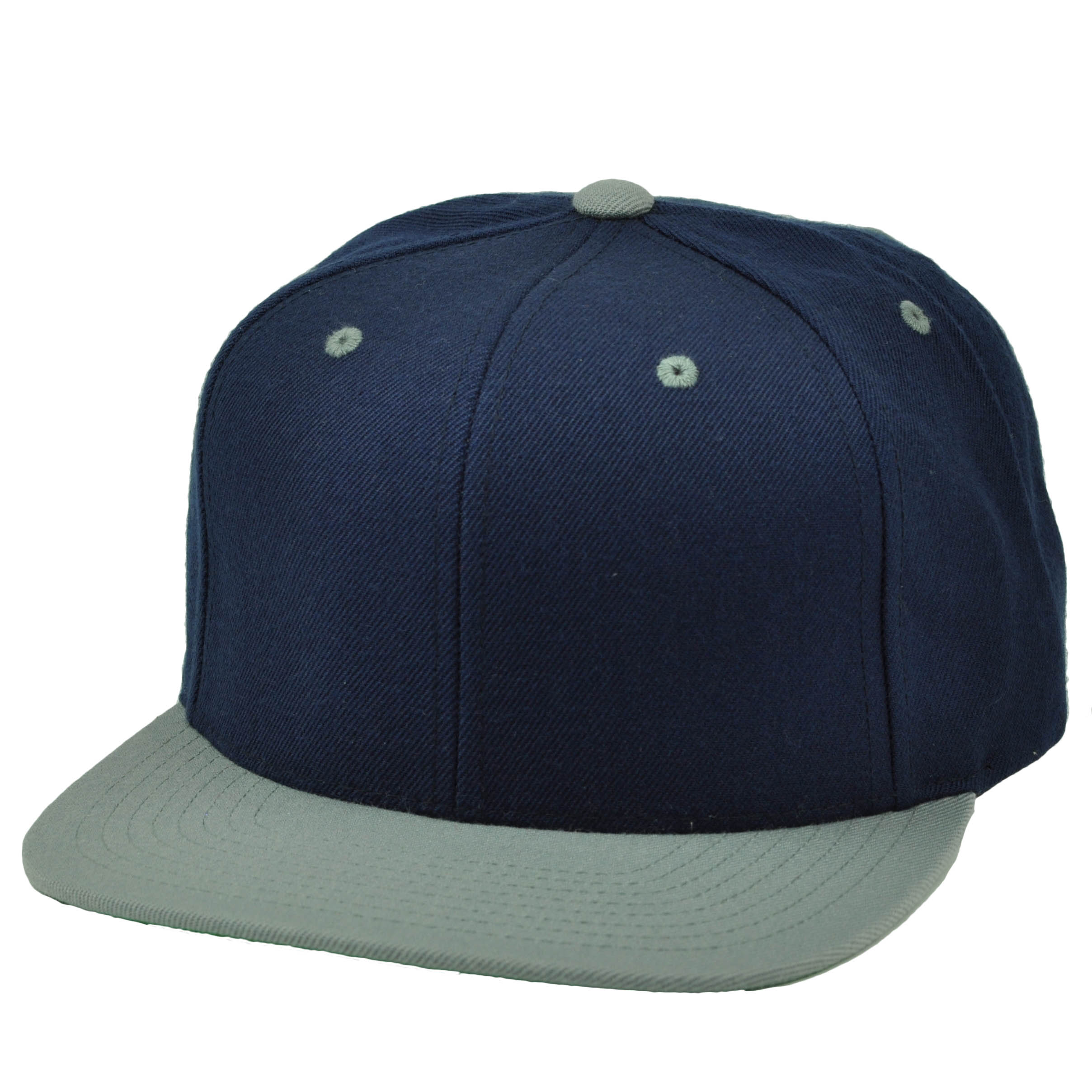 Starter Navy Blue Gray Blank Plain Snapback Hat Cap 2 Tone Adjustable Flat  Bill ad0944ef108