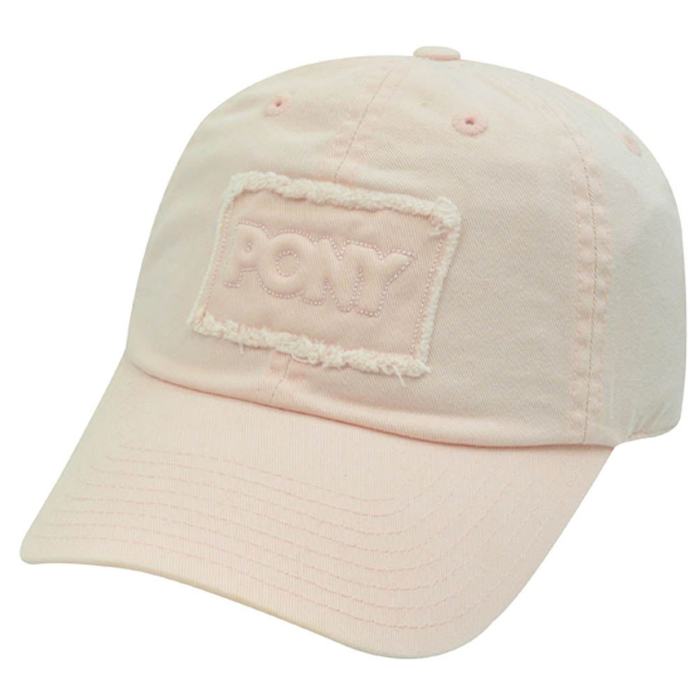 PONY WOMENS LIGHT PINK BASEBALL HAT CAP DISTRESSED 719719254351  b049d376709