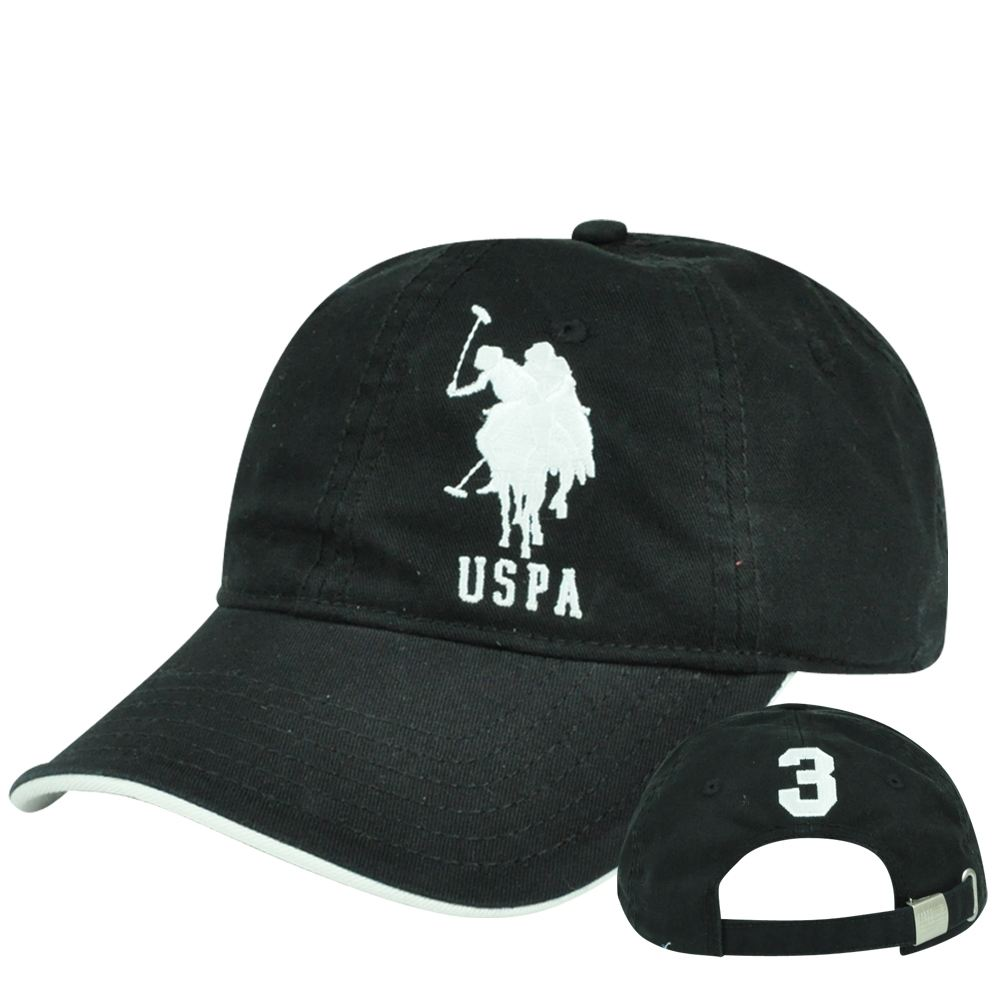 Us Polo Association Assn Solid Horse Garment Wash Adjustable Clip Buckle Hat  Cap e6edae60e54