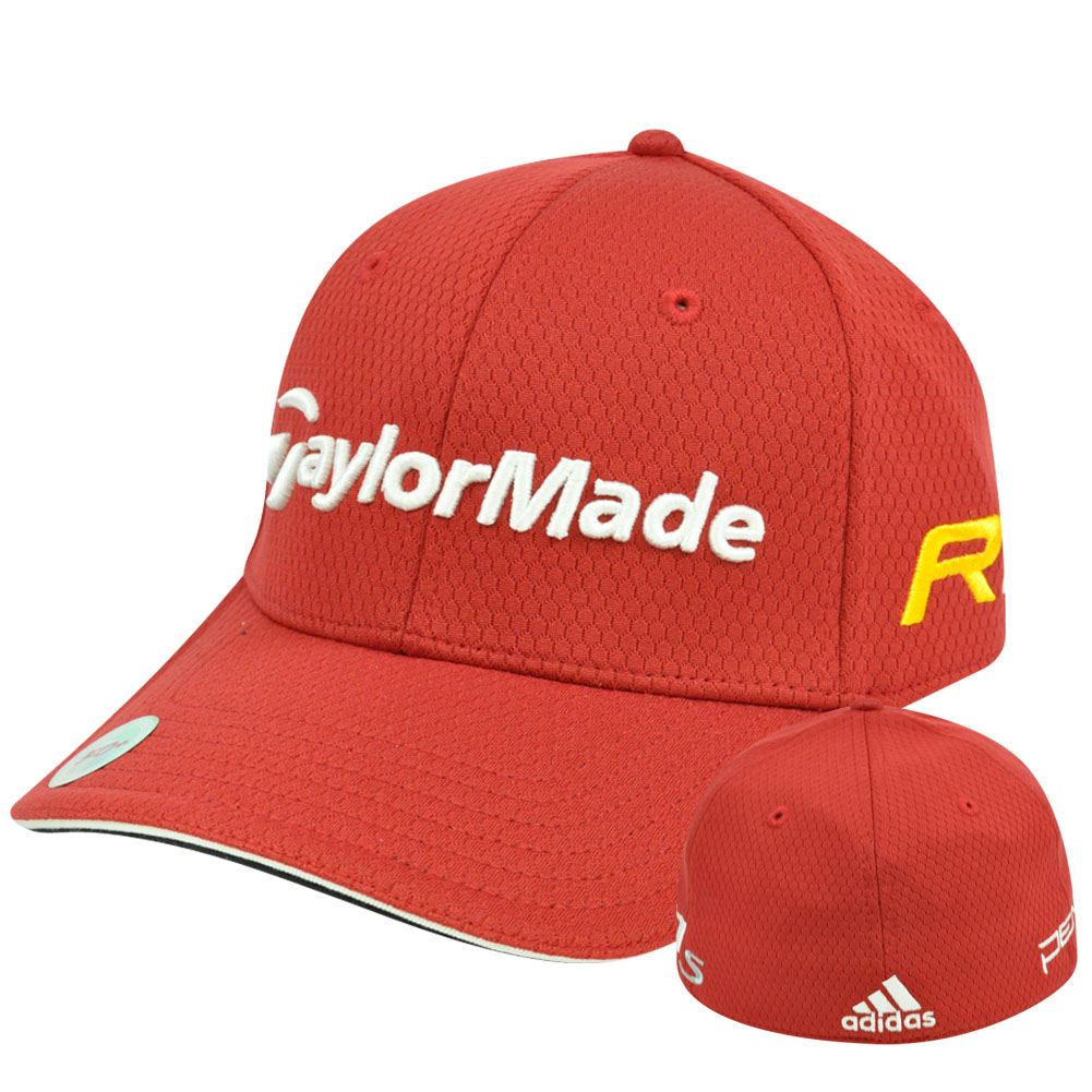 Adidas Ashworth Golf Hat Cap Penta Taylor Made R11 Red Stretch Flex Fit L Xl e98b1e2fe29