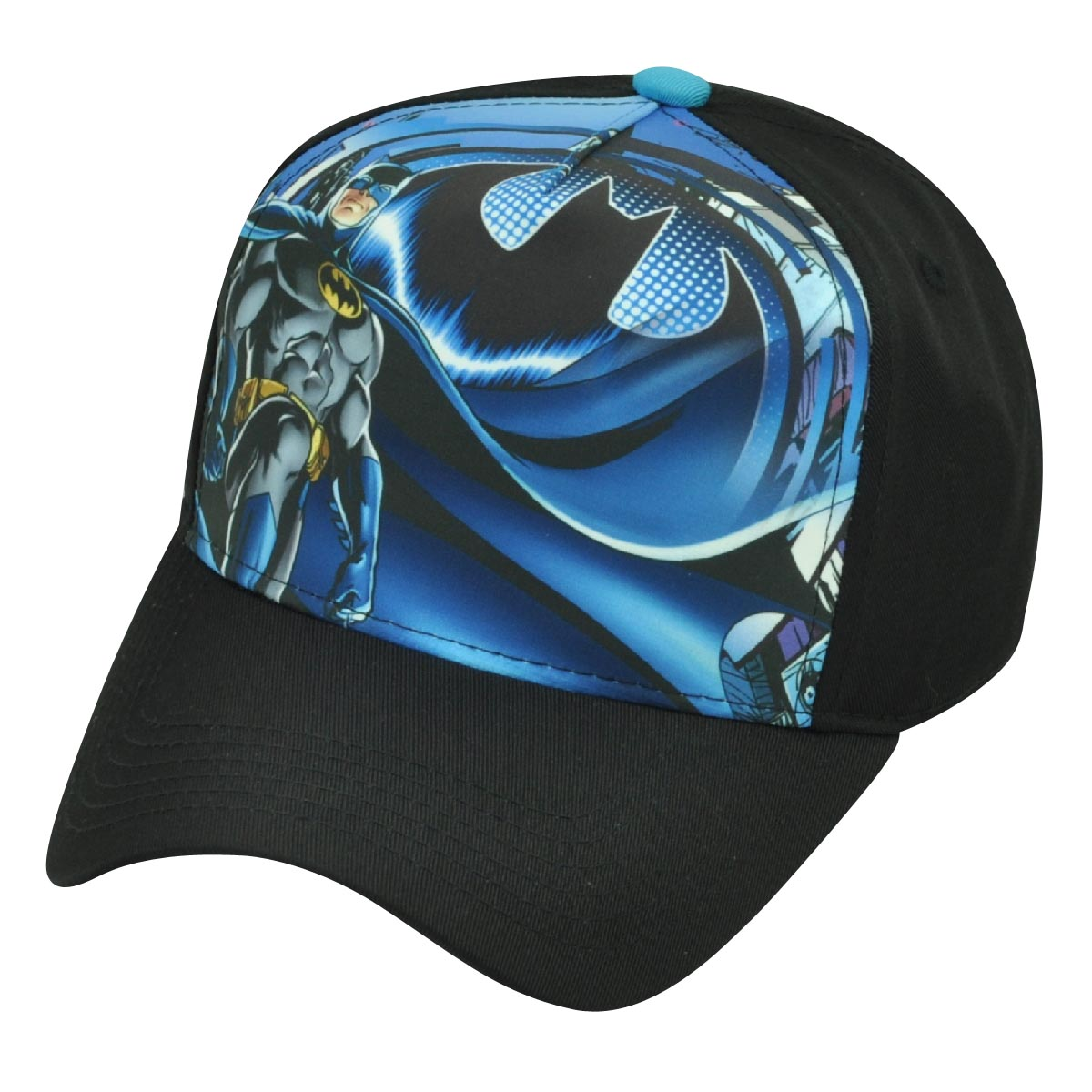 50314dc1e Batman Cartoon Snapback DC Comics Book Warner Bros Hat Cap Black Super Hero