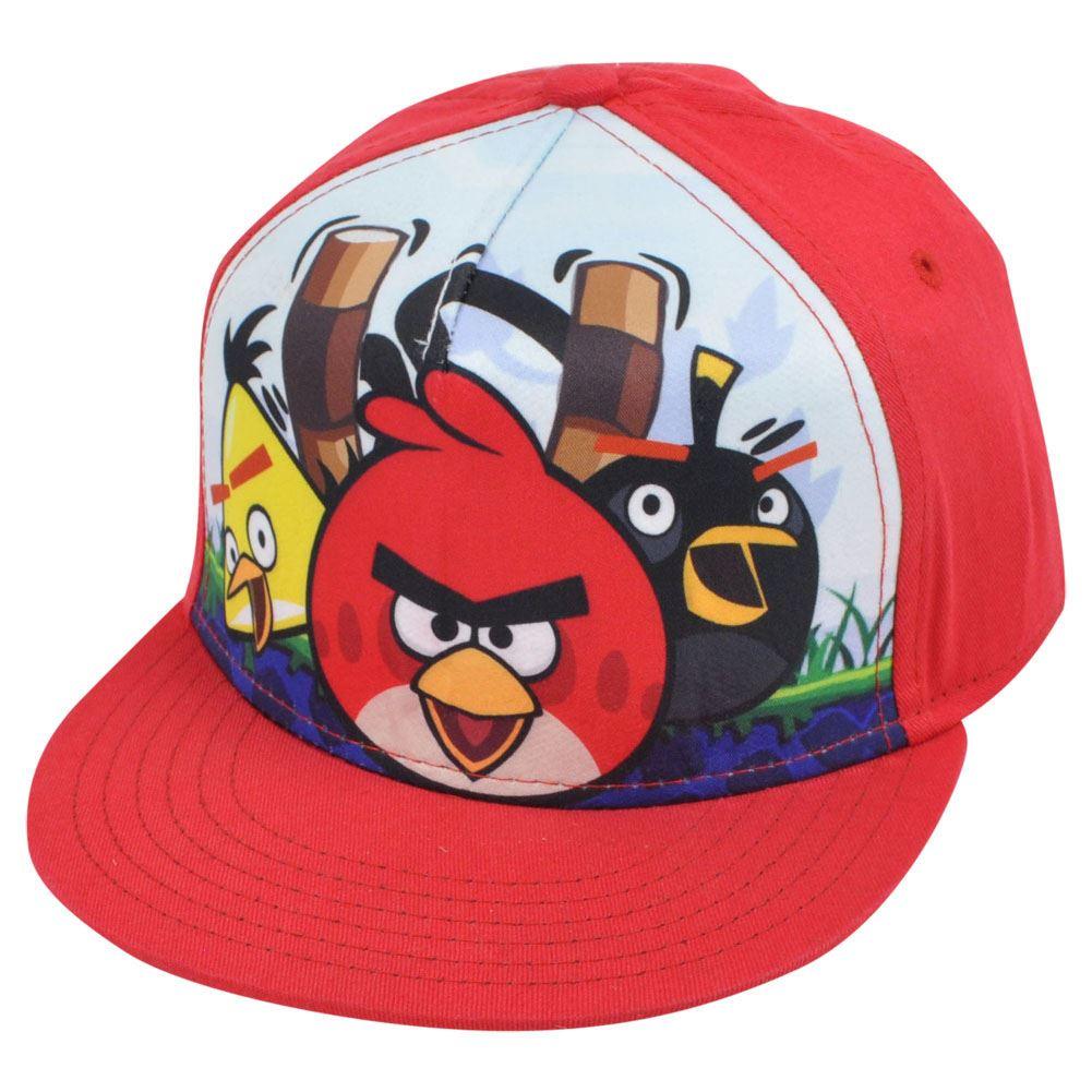 Angry Birds Crew Sublimation Print Video Game Cartoon Flat Bill Snapback Hat  Cap 6266f36049b